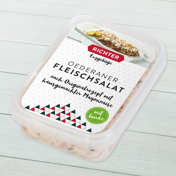 Oederaner Fleischalat mit Gurke Verpackung