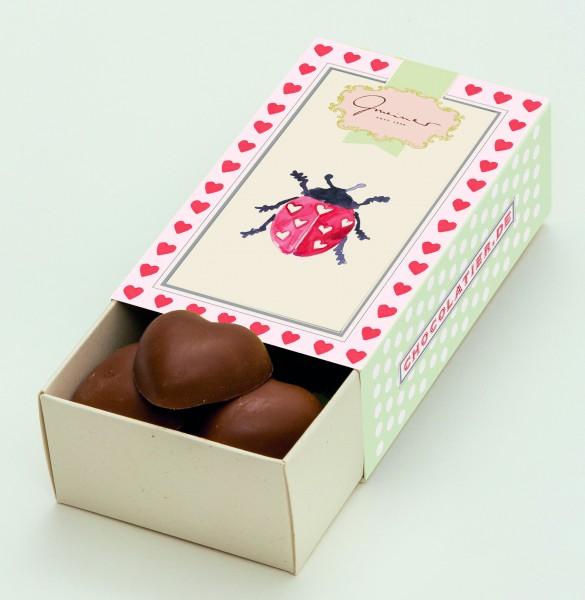 Schokoladenbox Marienkäfer & Herzle