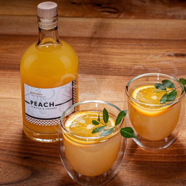 Peach Sommer-Glühwein Pfirsich und Orange