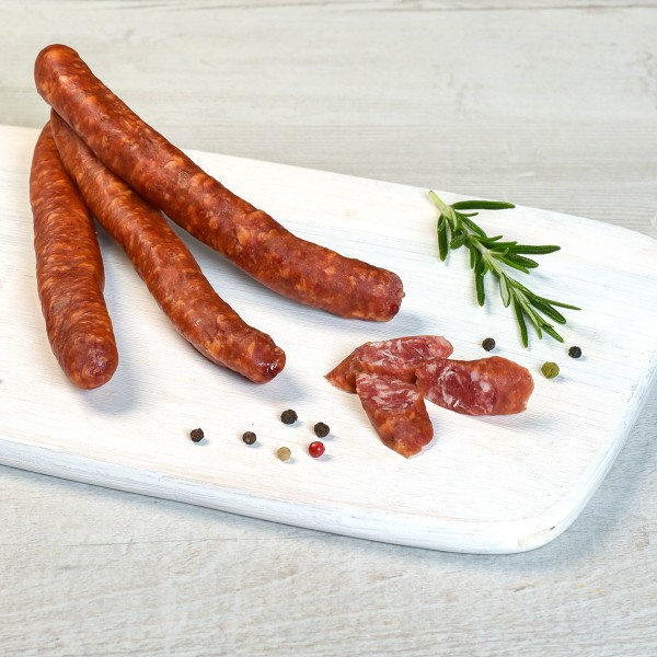 Rindfleischknacker Serviervorschlag