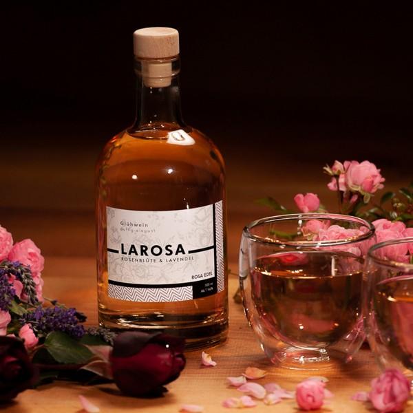 LaRosa Sommer-Glühwein mit Rosenblüten und Lavendel