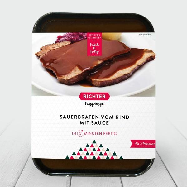 Richters Festbraten Sauerbraten vom Rind mit Sauce Verpackung