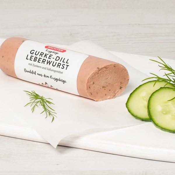 Leberwurst mit Gurke und Dill Serviervorschlag