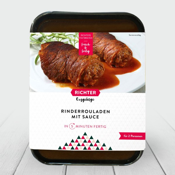 Richters Festbraten Rinderroulade mit Sauce Verpackung